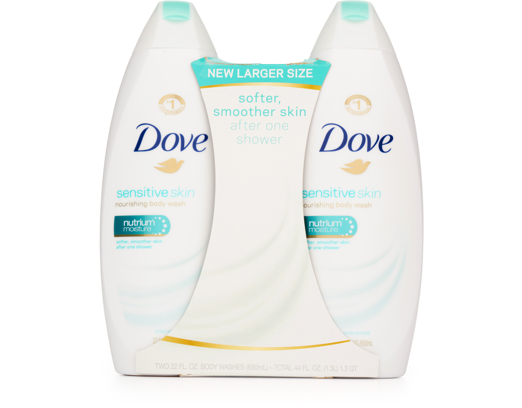 Dove Sensitive Skin Body Wash 2 X 22 Oz Sensitive Skin Boxed